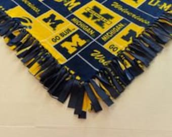 University of Michigan Fleece Tied Blanket
