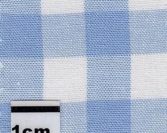 Cotton gingham Plaid Blue 10 cm