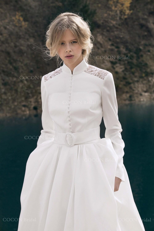 Winter Hochzeit Kleid Designer Wedding Dress Kleid moderne