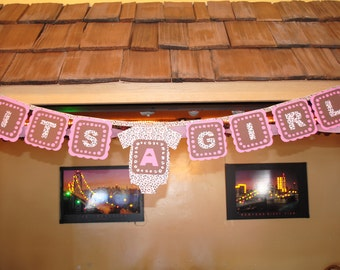 It's a Girl Leopard Banner