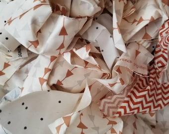 Fabric Scraps. Fabric Scrap Bundle. Fabric Scrap Bag. Neutral Fabric Scraps. Fabric Scraps by Weight. Cream Fabric Scraps.