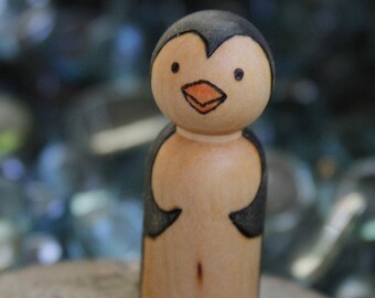 Penguin Peg doll- Made to order
