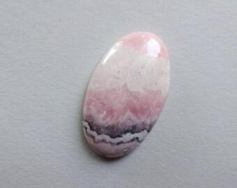 Pink Rhodochrosite cabochon 32x18 mm