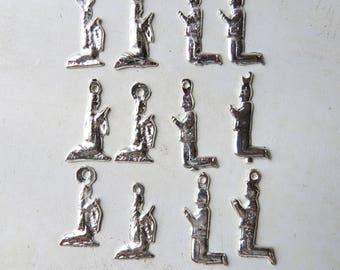 Prayer Milagros 12 praying Milagros- 6 saints and 6 men Silver tone