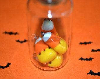 Halloween Candy Corn Charm - Kawaii Miniature Food Polymer Clay