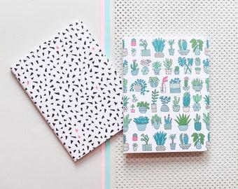 Plant note books, Plant note book, DIN A6 note book, note book, jotter, exercise book, mint exercise book, plant jotter, plant stationery