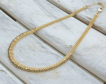 Zircon necklace, gold and grey necklace, gold chain necklace, 24k chain necklace, grey chain necklace, grey jewelry