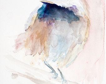 WATERCOLOR BIRD, WATERCOLOUR,  Black capped chickadee Bird Art, Wall Art, Watercolour Art, Watercolor Art
