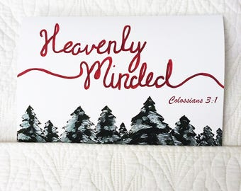 Heavenly Minded Multiple Occasion Homemade Card - Colossians 3:1