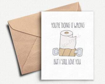 Funny Anniversary Card, Card for Boyfriend, Love Card, Card for Him, Birthday Card Boyfriend, Anniversary Gifts for Boyfriend, Husband, Wife