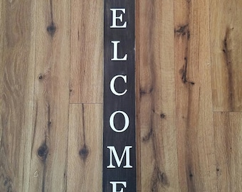 Homemade Rustic Welcome Wood Sign