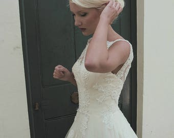 House of Mooshki- Alexandra. Beautiful Beaded Lace wWedding Dress.