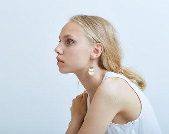 Moon Phase Earrings, Celestial Gold Earrings