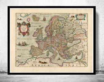Old Europe Map Antique Atlas 1638