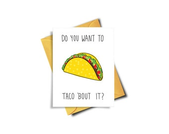 Sorry Card Funny, Do You Want To Taco Bout It Funny Card, Funny I'm Sorry Card, Funny Apology Card, Funny Taco Card, Apologize, Sympathy