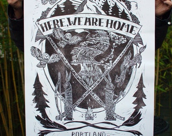 Here, We Are Home : Portland poster