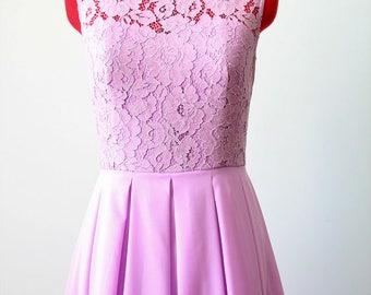 Long Light purple dress Chiffon Lace Dress Light purple bridesmaid dress Long bridesmaid dress Prom dress Purple  Spring bridesmaid dress