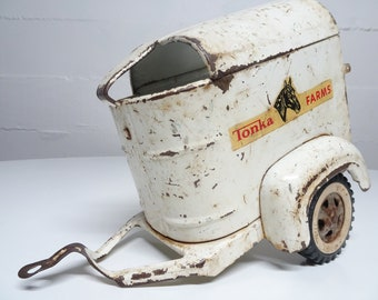 Vintage Tonka Farms Horse Trailer -  FREE SHIPPING