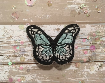 Blue and White Handmade Butterfly Brooch/Pin
