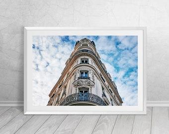 Haussmannian building in Paris, France, French, Fine Art, Photography, Downloadable Art, Printable Art, Home Decor, Best Seller