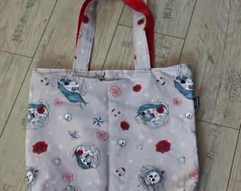 Unicorn Unicorn sugarskull Shopper Bag Reversible Shoulder Bag Rockabilly Retro Pinup Skull Rose Swallow Valentine Girlfriend Present Gift