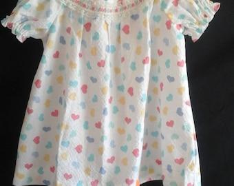 Little girls round yoke dress