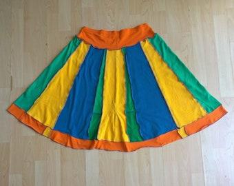 Upcycled Clothing/Skirt/Recycled/EcoWear/Summer/Festival Clothing/BeachWear/Holiday/Boho Clothing/Women's Clothing/OOAK
