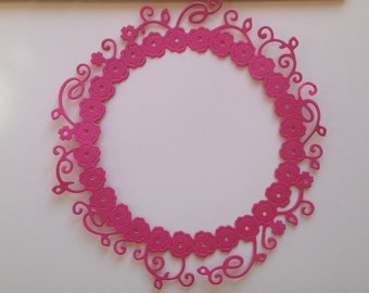 Lace Floral Round Frame Die Cuts