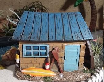 Fairy Garden Beach House, Beach Themed Fairy House, Fairy Home For Miniature  Gardening,