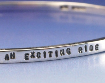 Personalised Silver Bangle 3mm