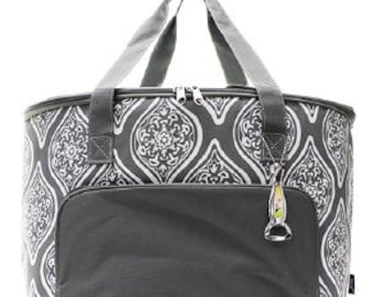 Insulated Garden Vine Cooler Shoulder Bag with free monogram