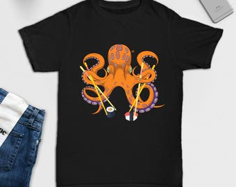 Sushi Octopus - Shirt - Sushi - Octopus - Asian - Octopus Sushi - Gifts for Her - Gifts for Him - Sushi Lover