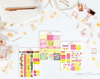 Mai Tai MINI Weekly Kit // 130+ Matte Planner Stickers // Perfect for your Personal Planner // WKM0130