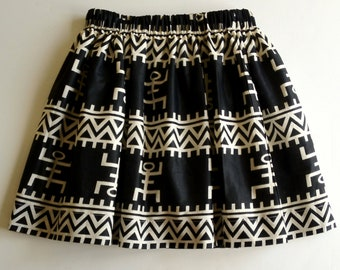 MUd Cloth Print  Skirt for girls