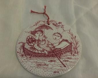 Vintage Bjorn Wimblad Ceramic Wall Plate Juli Nocturne