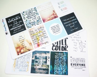 Motivational Quotes Planner Stickers! DBP006EC