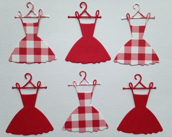 lot 6 cuts dresses cut decorative die cut embellishment scrapbooking