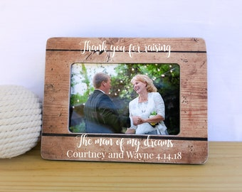 Mother of the Groom Frame Gift Mother of the Groom Gift Thank you for Raising The Man of my Dreams Frame Thank You Wedding Gift