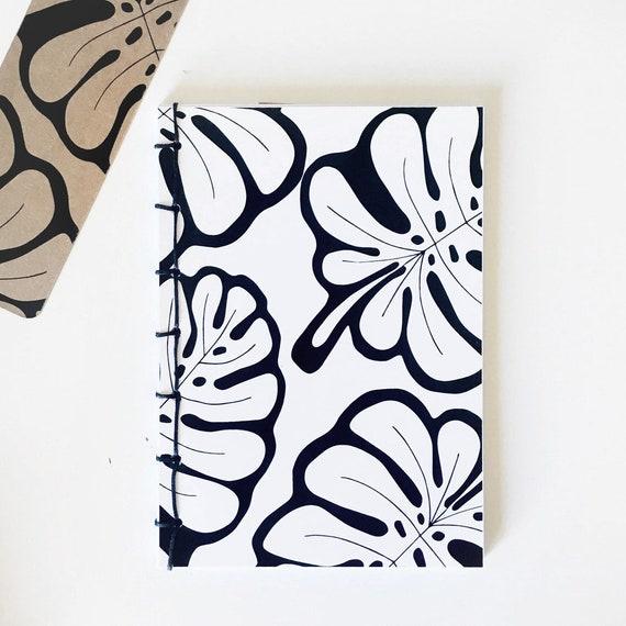 Handmade binded notebook, A6 vertical, laiepi graphic