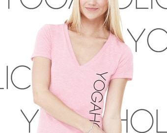 Yogaholic Women's SMALL Yoga V-neck