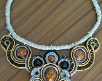 Soutache necklace. Soutache necklace design My Kmi