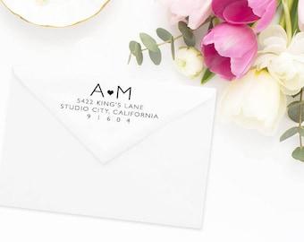 Return Address Stamp, Address Stamp, Custom Address Stamp, Wedding Return Address Stamp, Personalized Return Address Stamp, Rubber Stamp #42