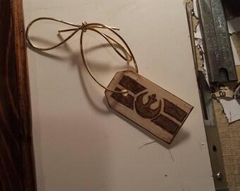 Rebel Alliance Wood Burn Keychain