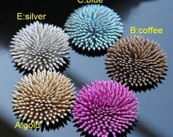 "15pcs 5.5cm 2.16"" wide blue/fuschia//gold/silver flower clothes dress appliques patch brooch F35R157P0125R free ship"