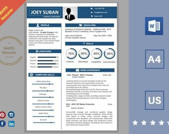 Resume Template I, Professional Resume Template, Creative Resume Template, Professional CV Template, Modern Resume Template.