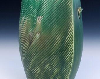 Tulip Vase - Dark Green - Altered