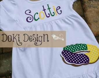 Toddler/Girls Mardi Gras King Cake Dress