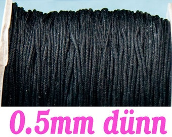 10m macrame belt 0.5, black #4089