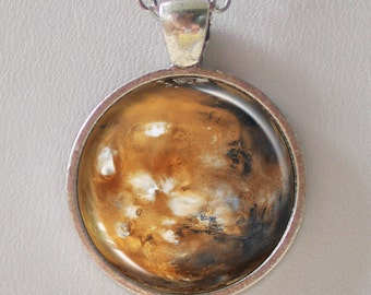 Full Mars Necklace - Planet Mars Pendant Necklace- Solar System- Galaxy Series