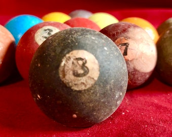 Vintage Clay Pool Balls - lot of 15
